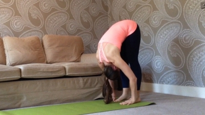 Pilates Move of the Month, Roll Down into Triangle